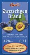 Zwetschgen-Brand 42% vol.
